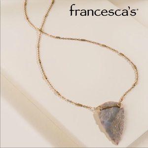 Francesca's Elsie Arrow Necklace